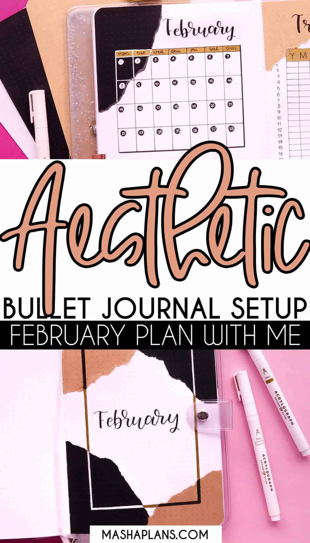 Aesthetic Bullet Journal Setup: February 2021 Plan With Me | Masha Plans