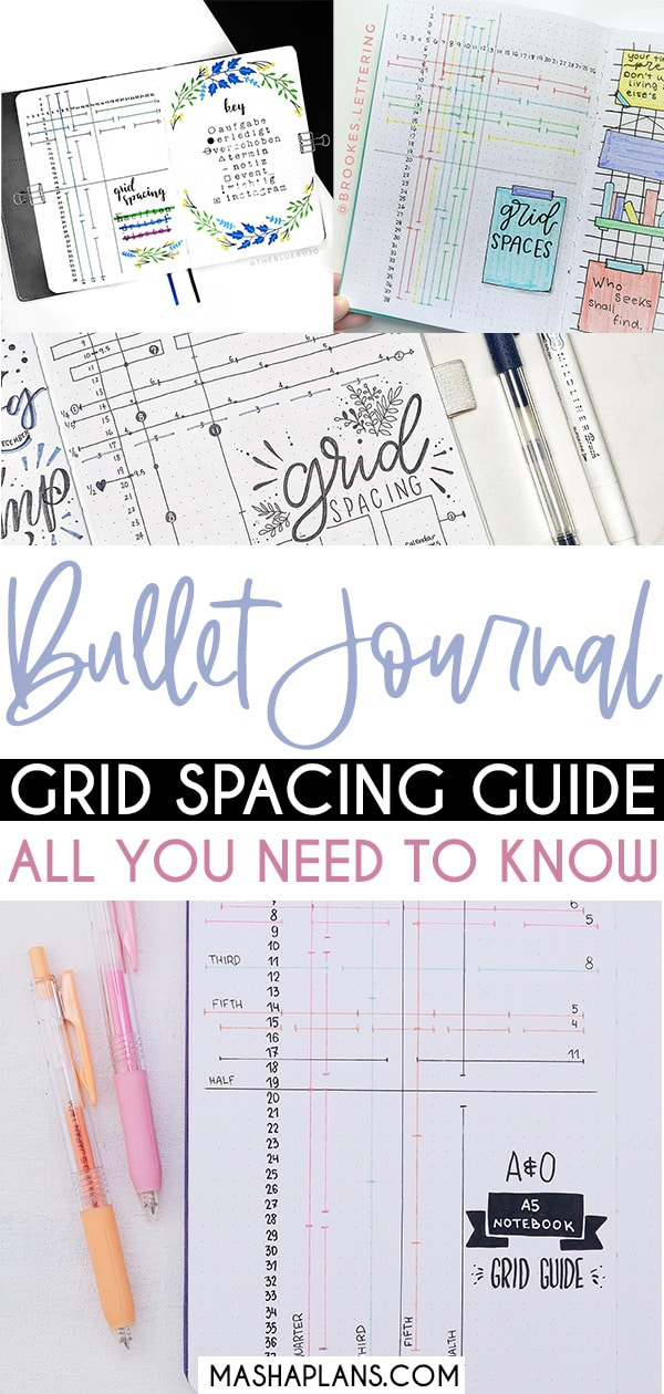 Bullet Journal Grid Spacing Guide: All You Need To Know | Masha Plans