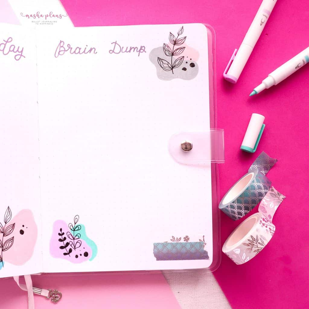 January 2021 Bullet Journal Setup - brain dump | Masha Plans