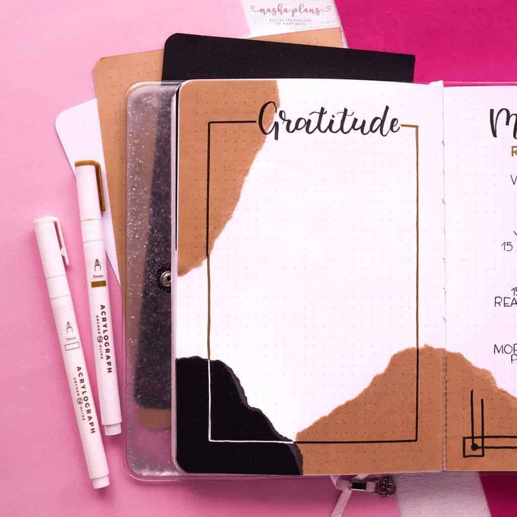 Aesthetic Bullet Journal Setup | February 2021 Plan With Me, gratitude log | Masha Plans