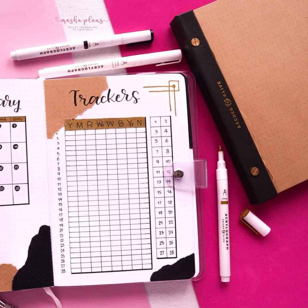 Aesthetic Bullet Journal Setup | February 2021 Plan With Me, habit tracker, mood tracker | Masha Plans