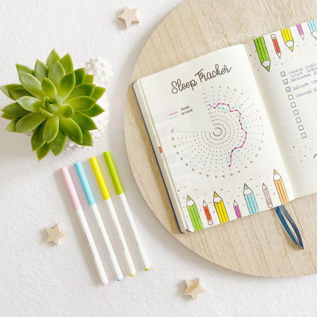 Bullet Journal Sleep Tracker by @mydailybullet | Masha Plans