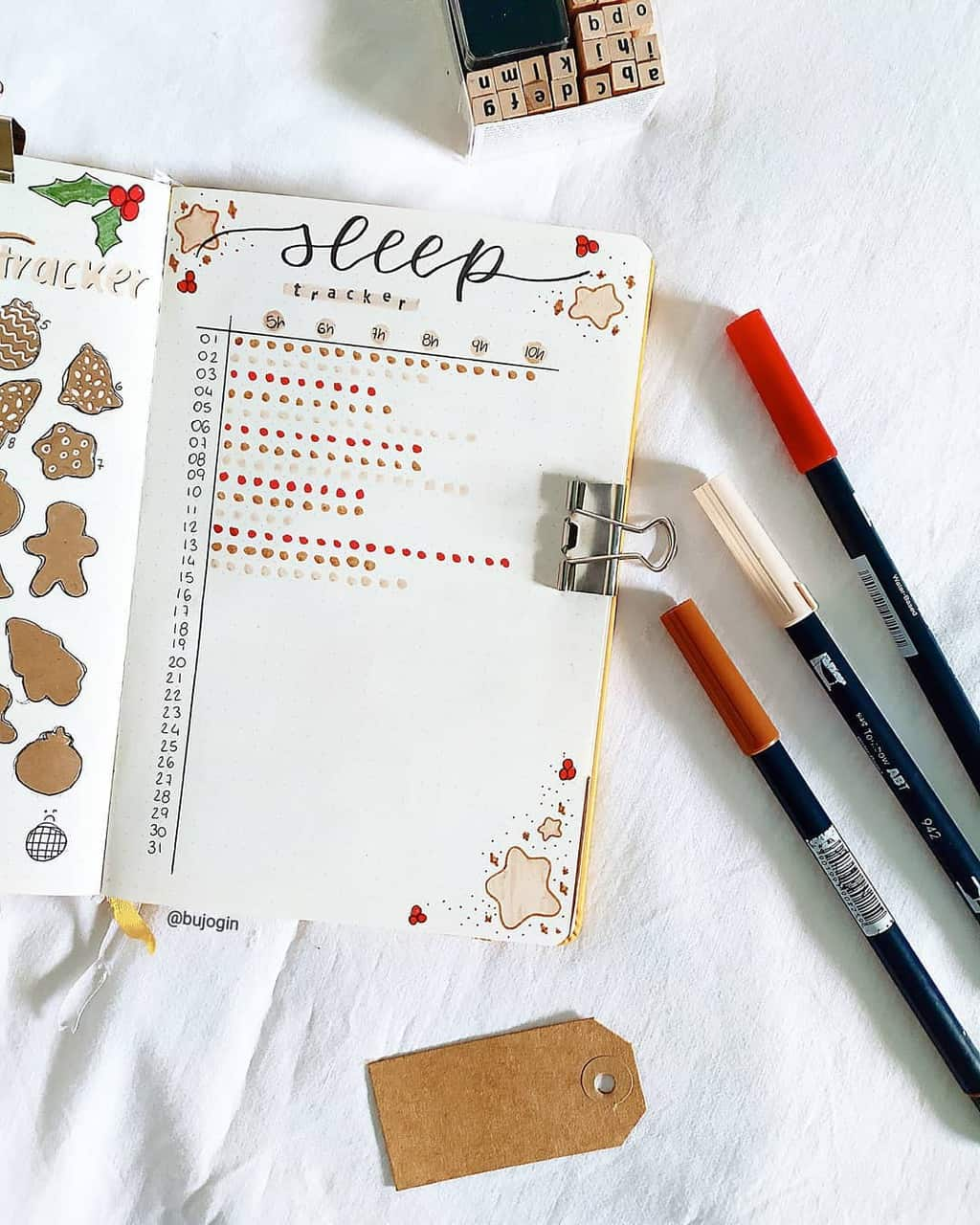 Bullet Journal Sleep Tracker by @gemini.journl | Masha Plans