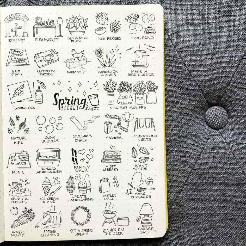 Spring Bucket List by @plansthatblossom | Masha Plans