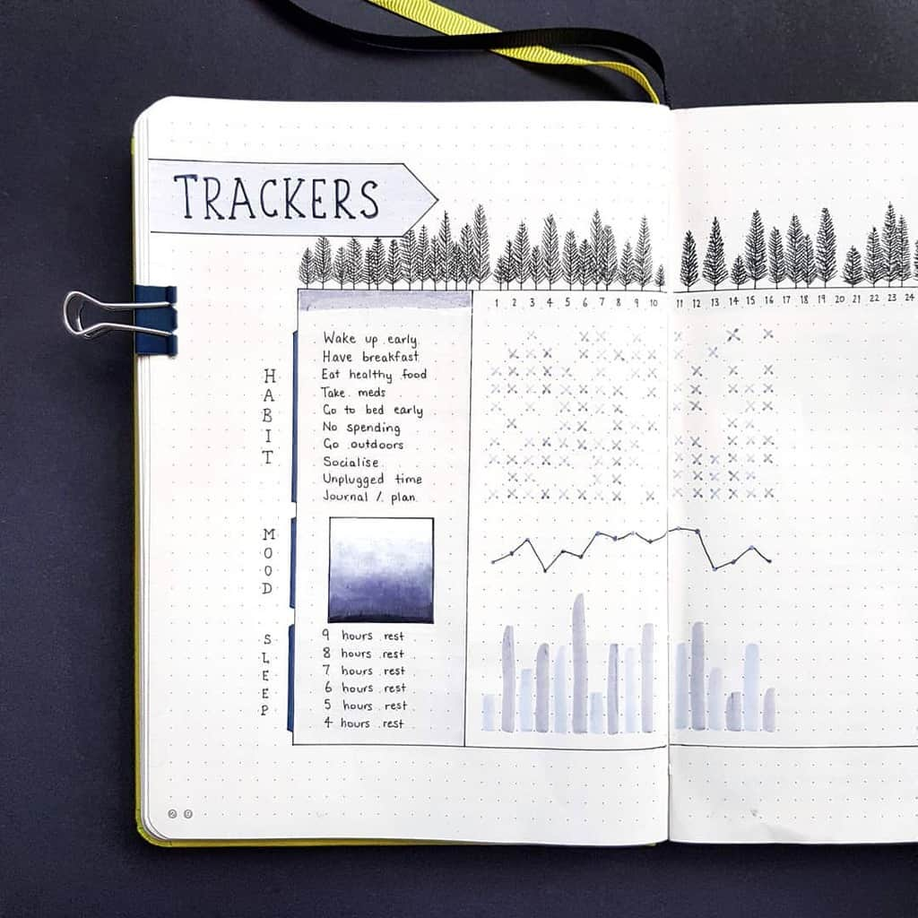 Bullet Journal Sleep Tracker by @birdybujo | Masha Plans