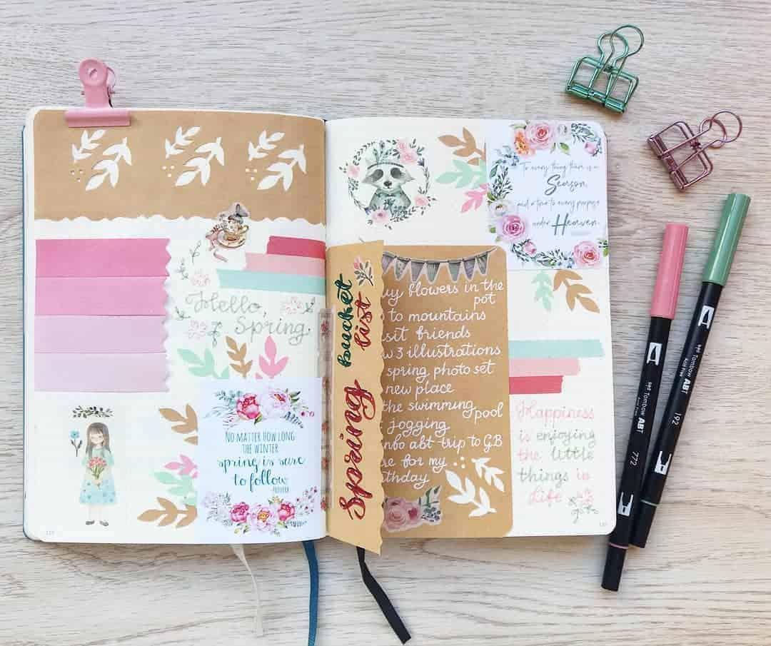 Spring Bucket List by @idzumi.bujo | Masha Plans