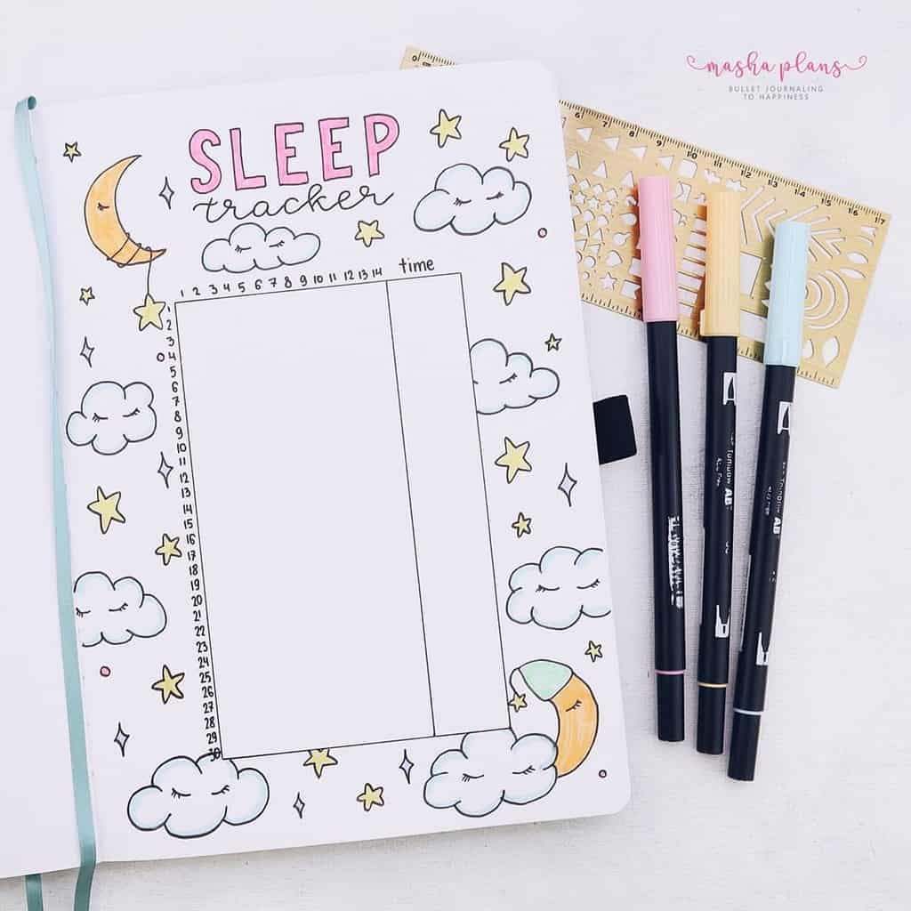 Bullet Journal Sleep Tracker | Masha Plans