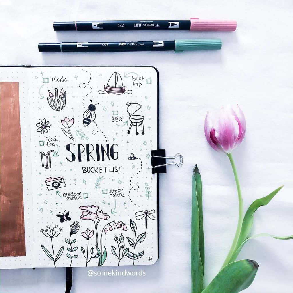 Spring Bucket List by @ somekindwords_ | Masha Plans