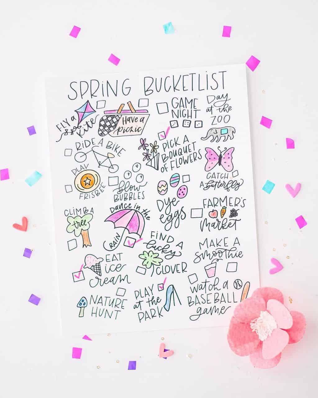 Spring Bucket List by @plum.pretty.pickins | Masha Plans