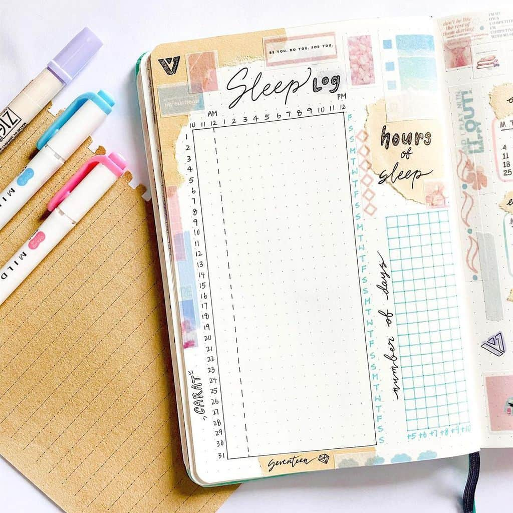 Bullet Journal Sleep Tracker by @haru.bujo | Masha Plans