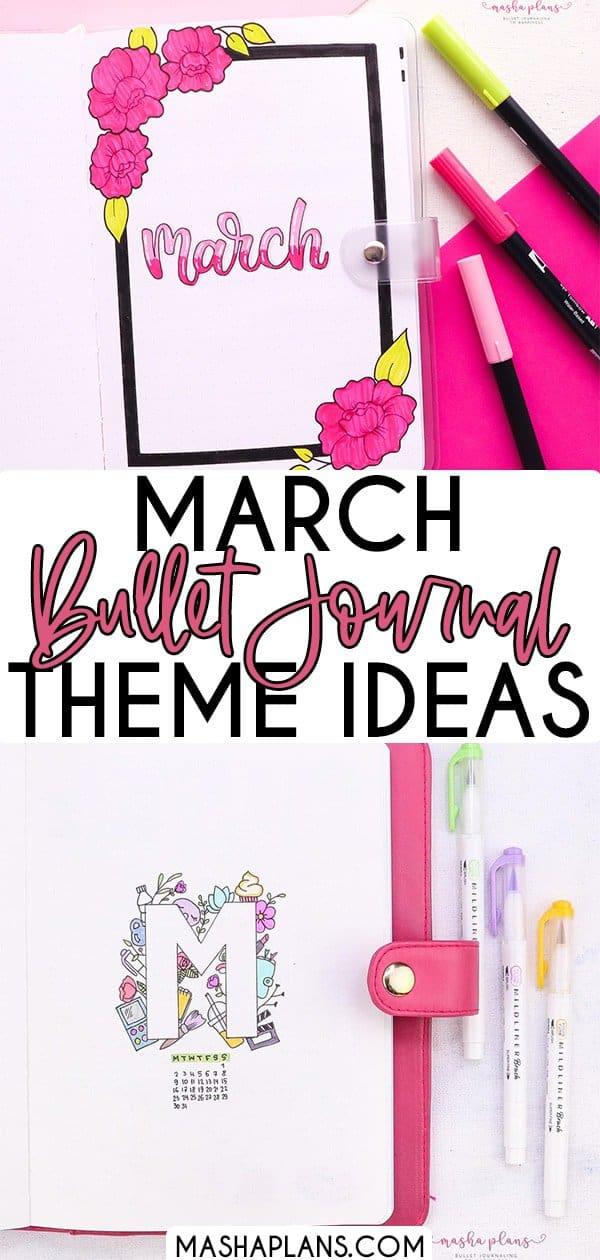 15 Creative March Bullet Journal Theme Ideas | Masha Plans