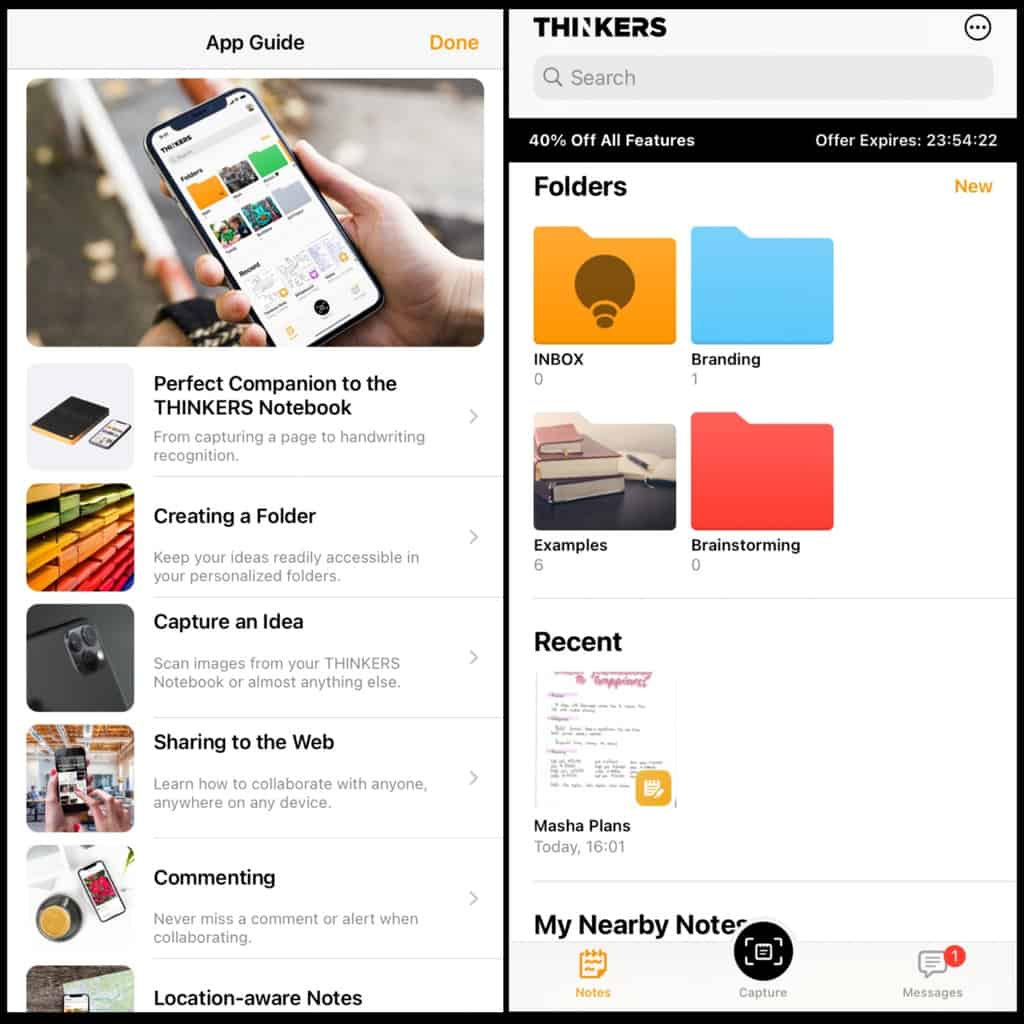 Thinkers App, Nuuna Thinkers Notebook Review | Masha Plans