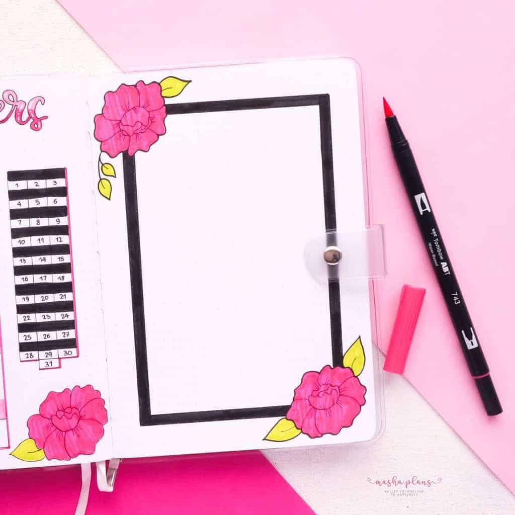 March Bullet Journal Setup, gratitude log | Masha Plans