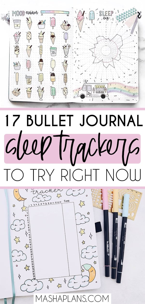 Adorable Bullet Journal Sleep Trackers For Better Sleep Habits | Masha Plans