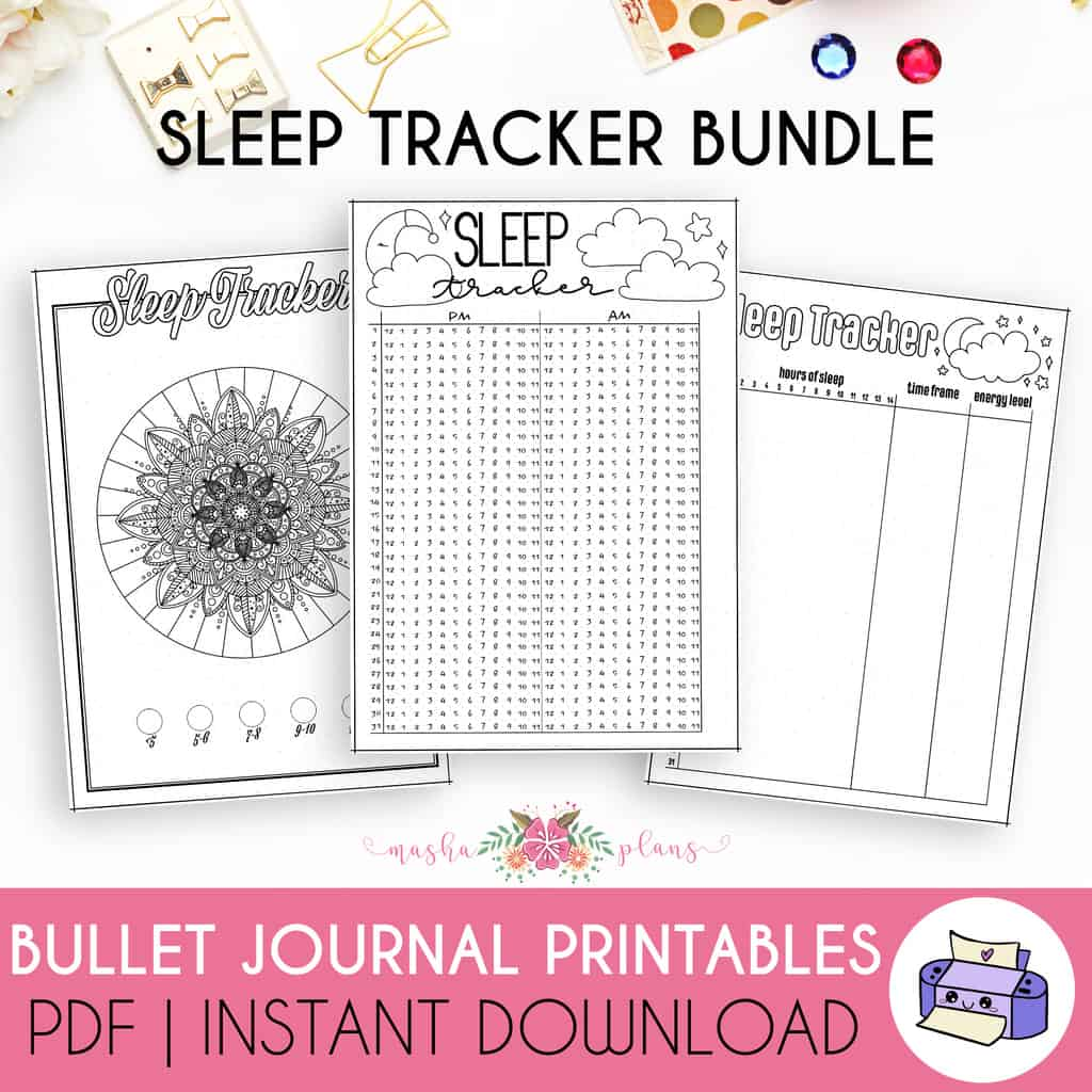 Bullet Journal Sleep Tracker Printable | Masha Plans