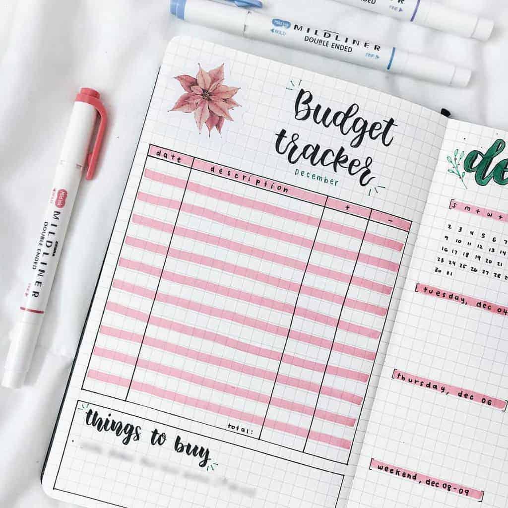 Bullet Journal Expenses Tracker by @megansstudies | Masha Plans
