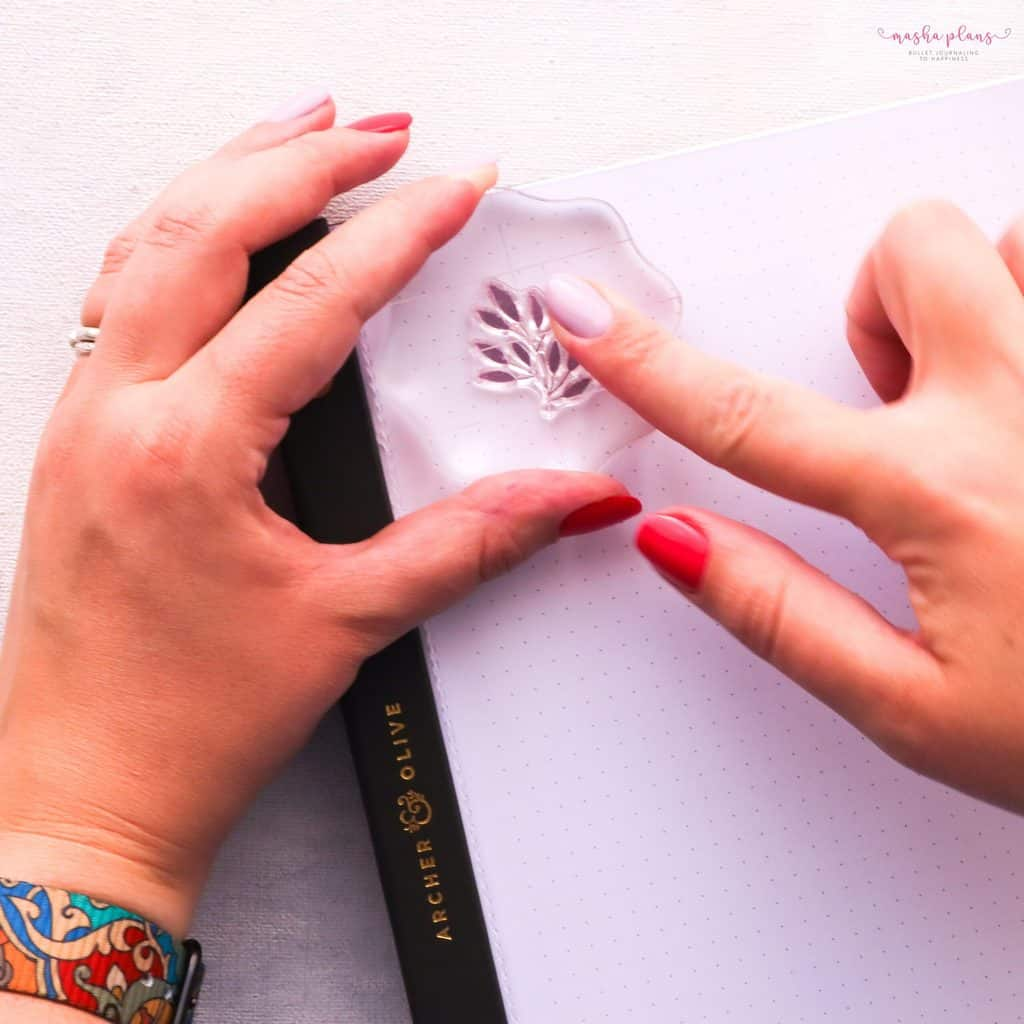 How To Use Bullet Journal Stamps. Step 3 - stamp | Masha Plans