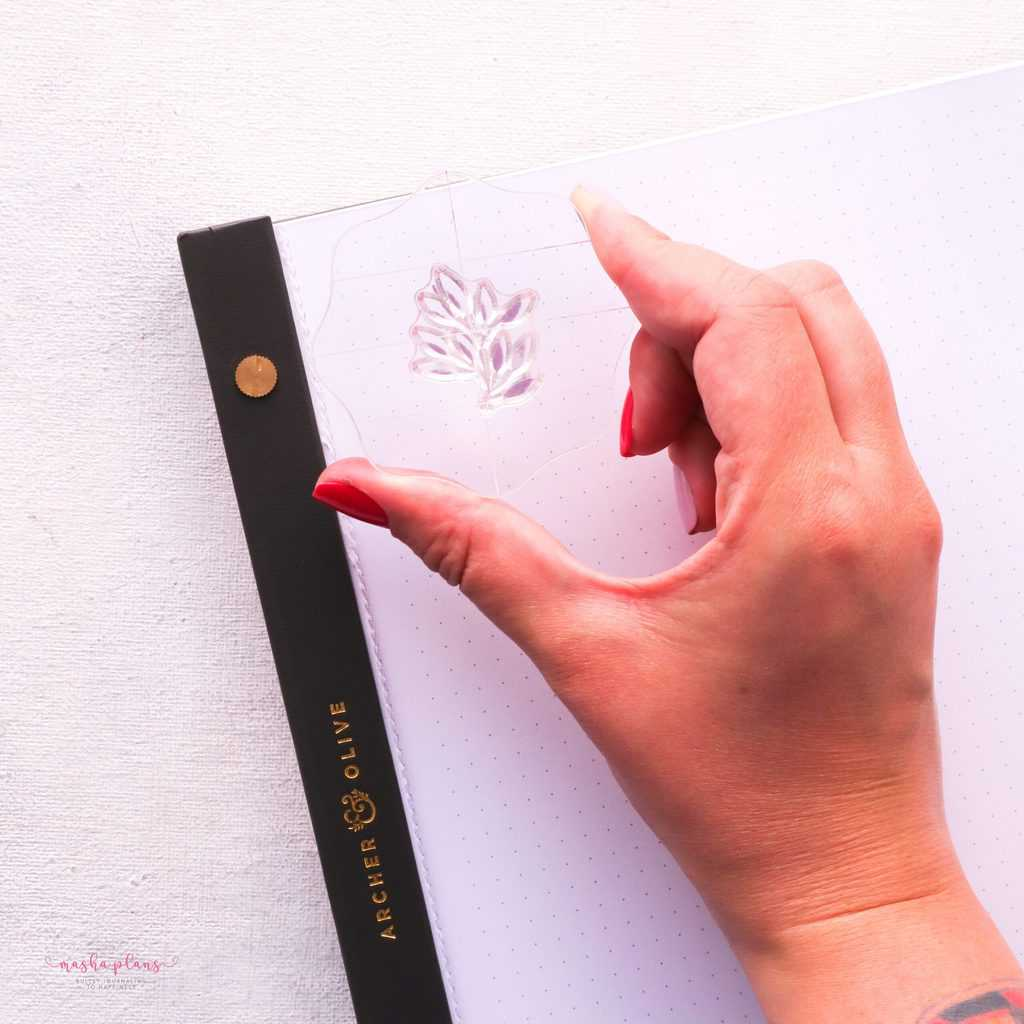 How To Use Bullet Journal Stamps. Step 4 - list the stamp | Masha Plans
