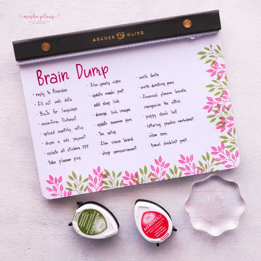 How To Use Bullet Journal Stamps, decorative stamps | Masha Plans