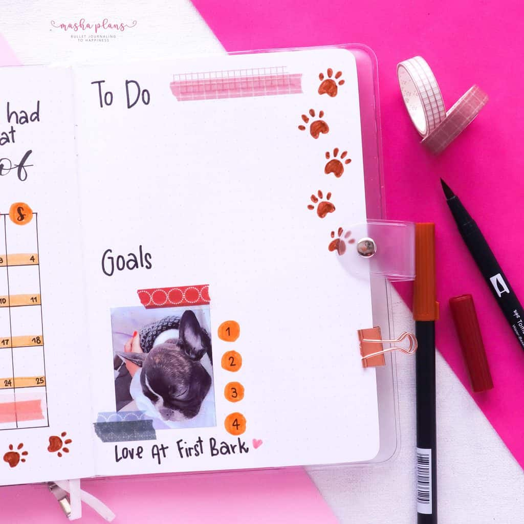 Puppie Bullet Journal Setup, April Plan With Me, to do | Masha Plans