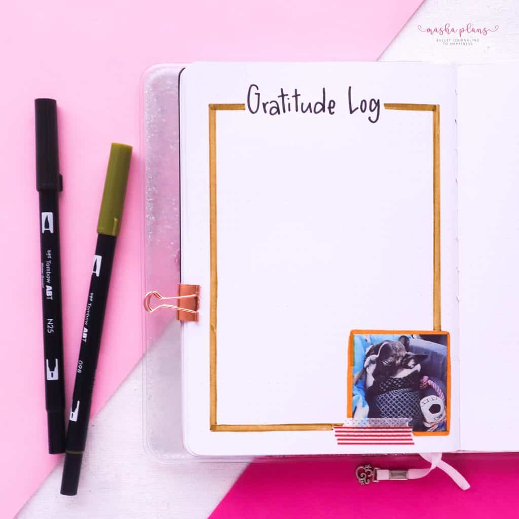 Puppie Bullet Journal Setup, April Plan With Me, gratitude log | Masha Plans