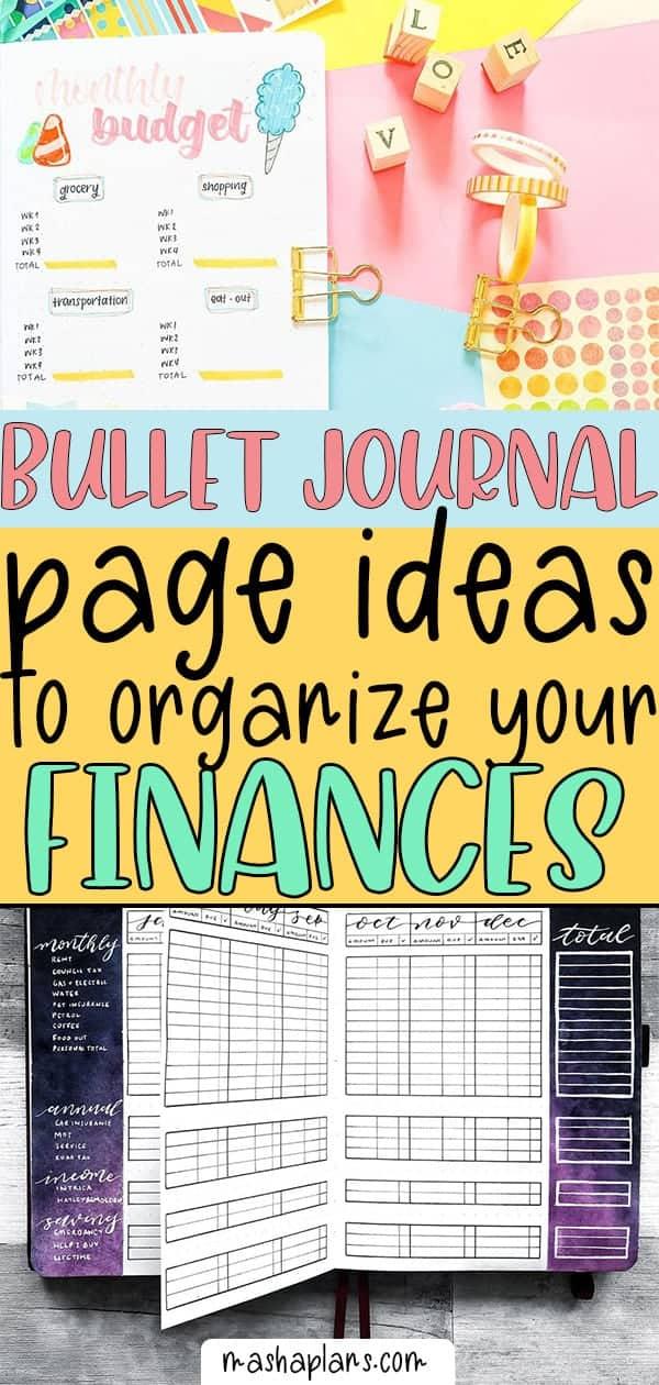 Bullet Journal Budget Tracker Ideas To Organize Your Finances | Masha Plans
