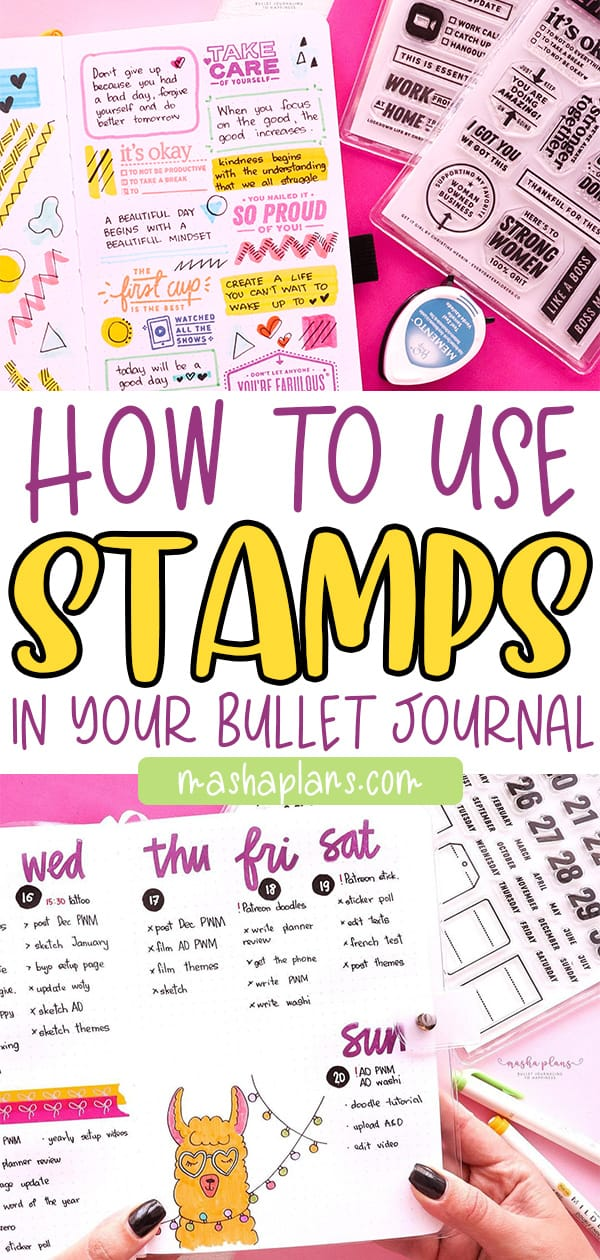 How To Use Bullet Journal Stamps | Masha Plans