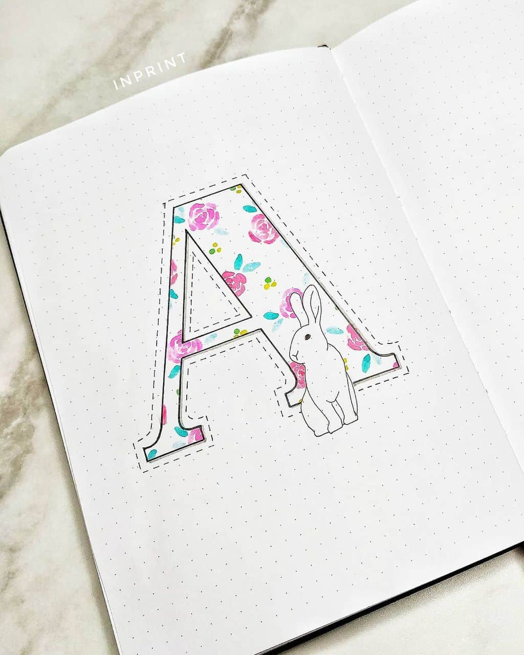 April Bullet Journal Theme Ideas by @ inprint.xyz | Masha Plans
