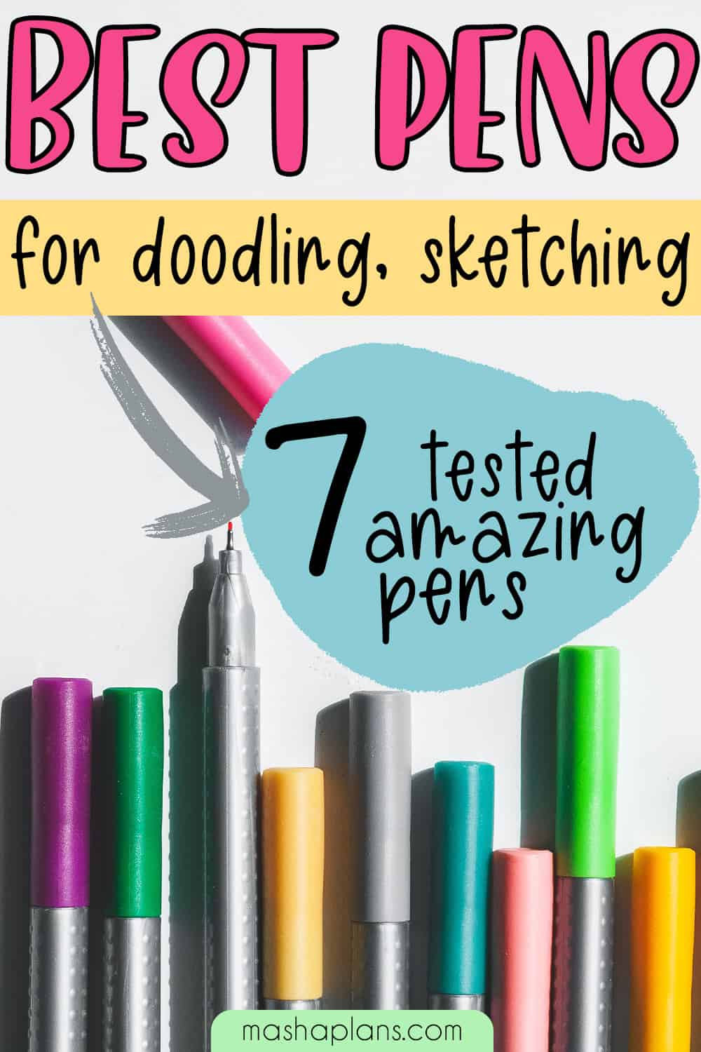 7 Best Pens For Doodling, Sketching and Drawing | Masha Plans
