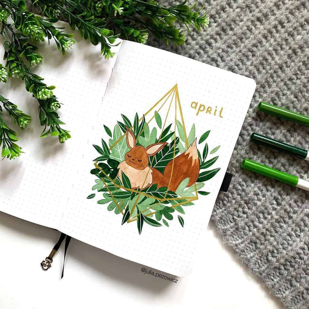 April Bullet Journal Theme Ideas by @julia.pezowicz | Masha Plans