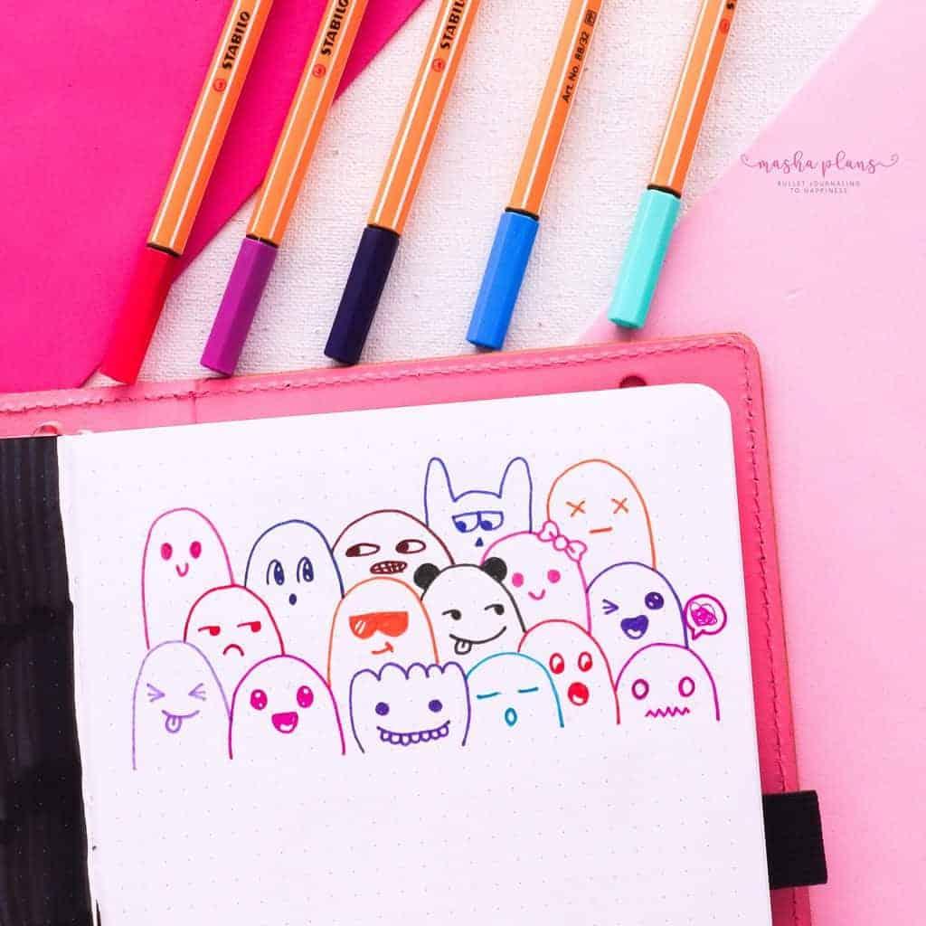 Best Doodling Pens, Stabilo Point 88 | Masha Plans