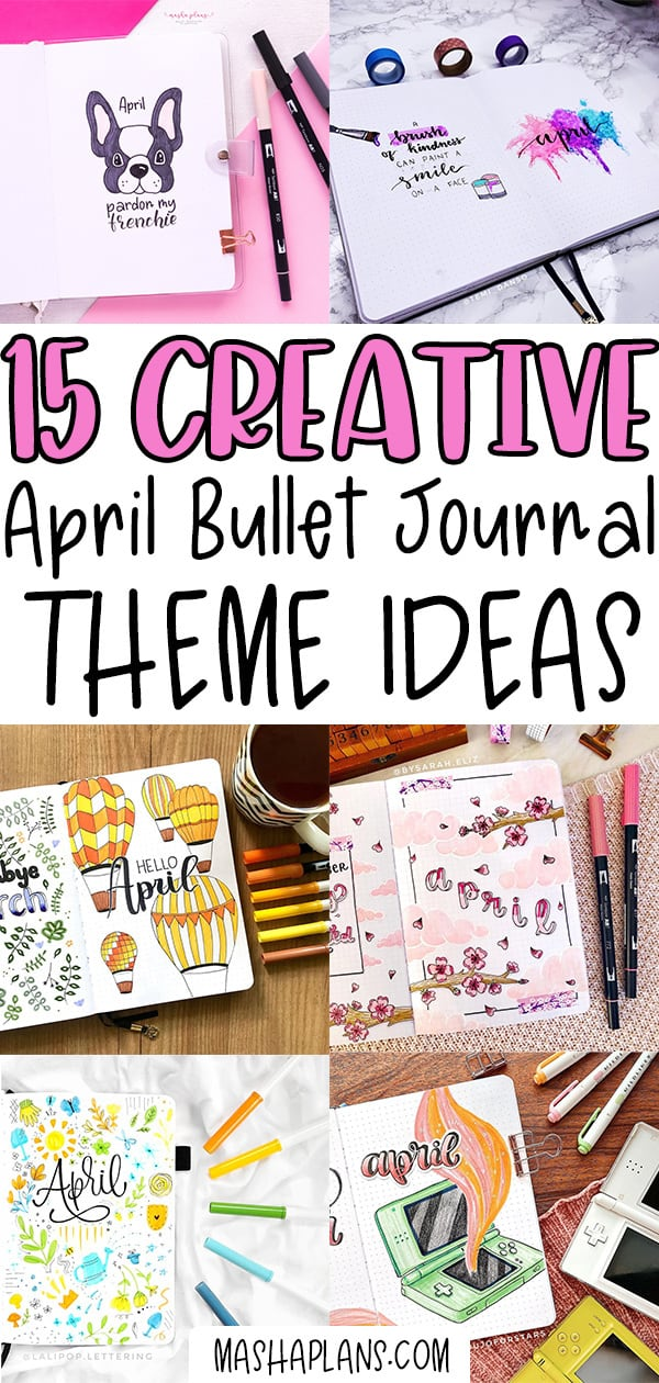 Puppy Themed Bullet Journal Setup And 15 Other April Theme Ideas | Masha Plans
