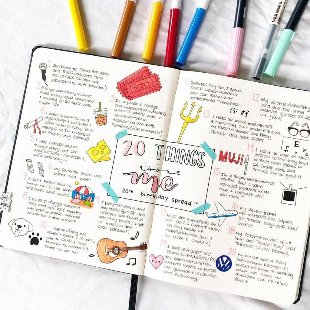 About Me Page By @studybeanthings | Masha Plans