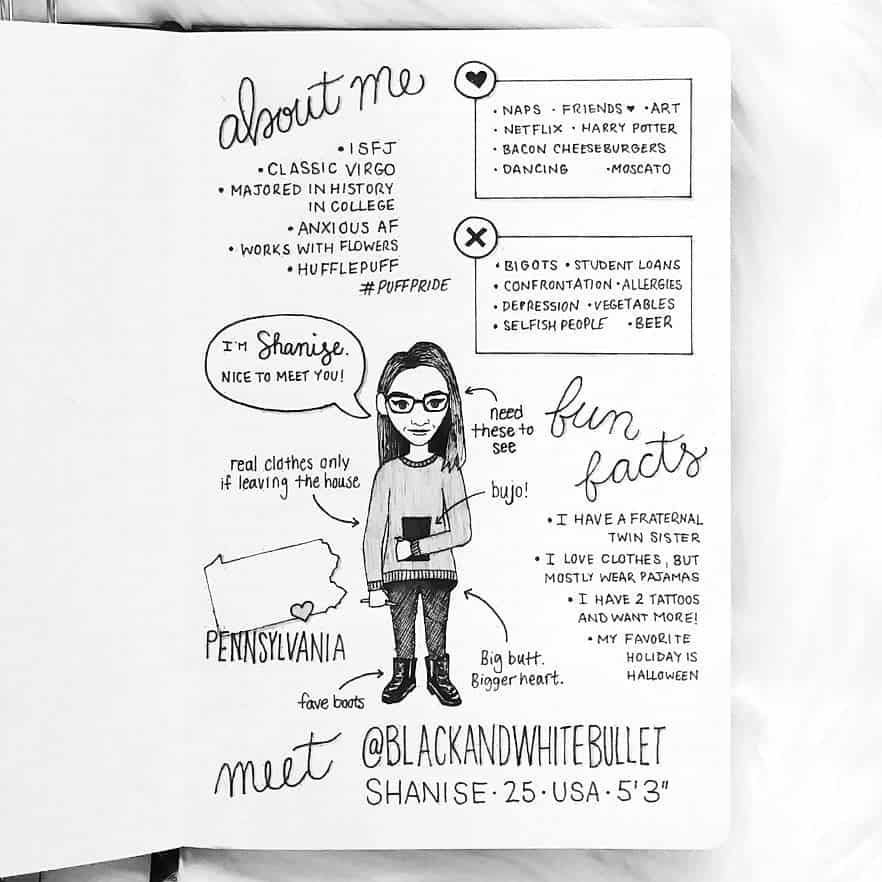 About Me Page by @shaniseart | Masha Plans