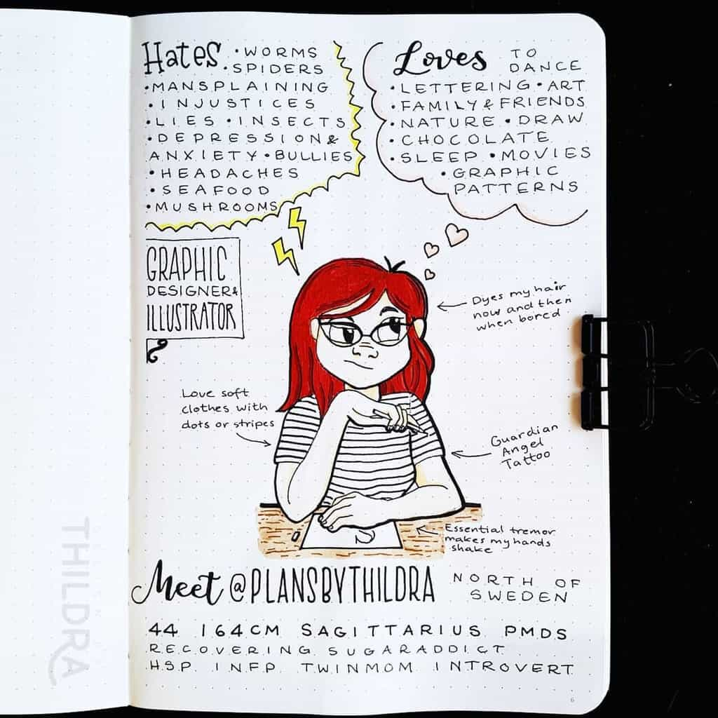 About Me Page by @plansbythildra | Masha Plans