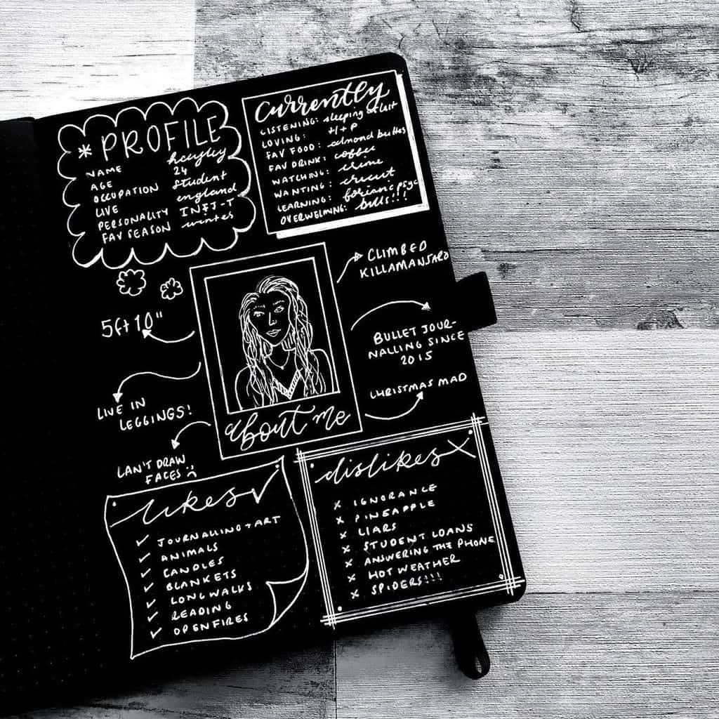 About Me Page By @hayleyremdeart | Masha Plans
