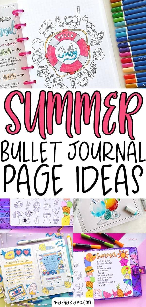 Fantastic Summer Bullet Journal Page Ideas | Masha Plans