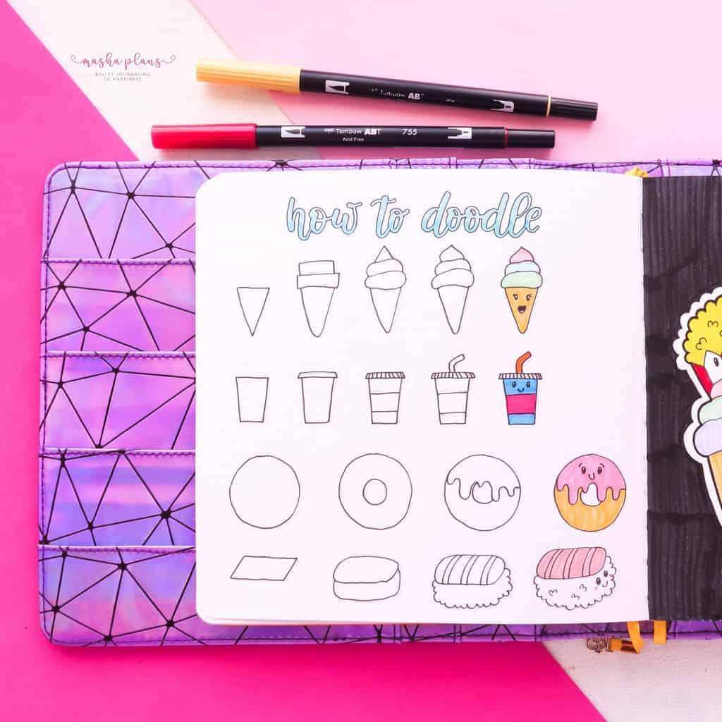 Kawaii Food Doodle Tutorial | Masha Plans