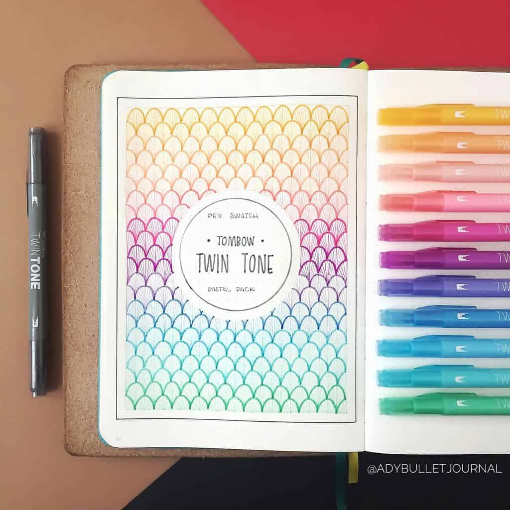 Geometric Bullet Journal Cover Page by @planwithady | Masha Plans