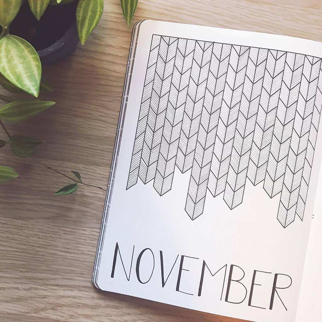 Geometric Bullet Journal Cover Page by @abulletandsomelines | Masha Plans