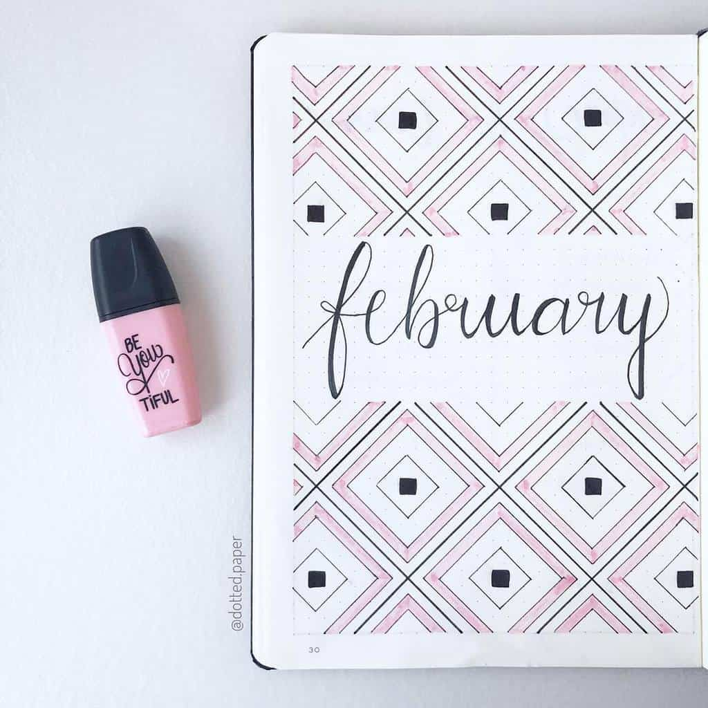 Geometric Bullet Journal Cover Page by @dotted.paper | Masha Plans