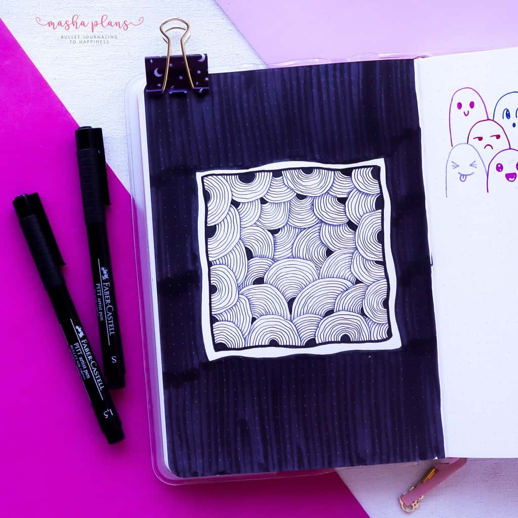 13 Simple Patterns For Your Geometric Bullet Journal Pages, Pattern 5 | Masha Plans