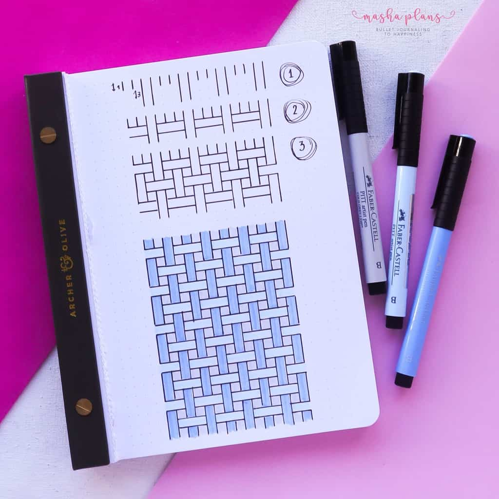 13 Simple Patterns For Your Geometric Bullet Journal Pages, Pattern 12 | Masha Plans