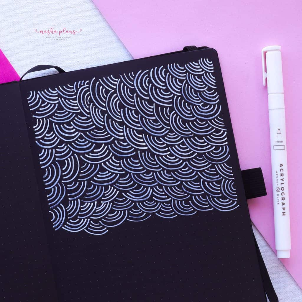 13 Simple Patterns For Your Geometric Bullet Journal Pages, Pattern 1 | Masha Plans