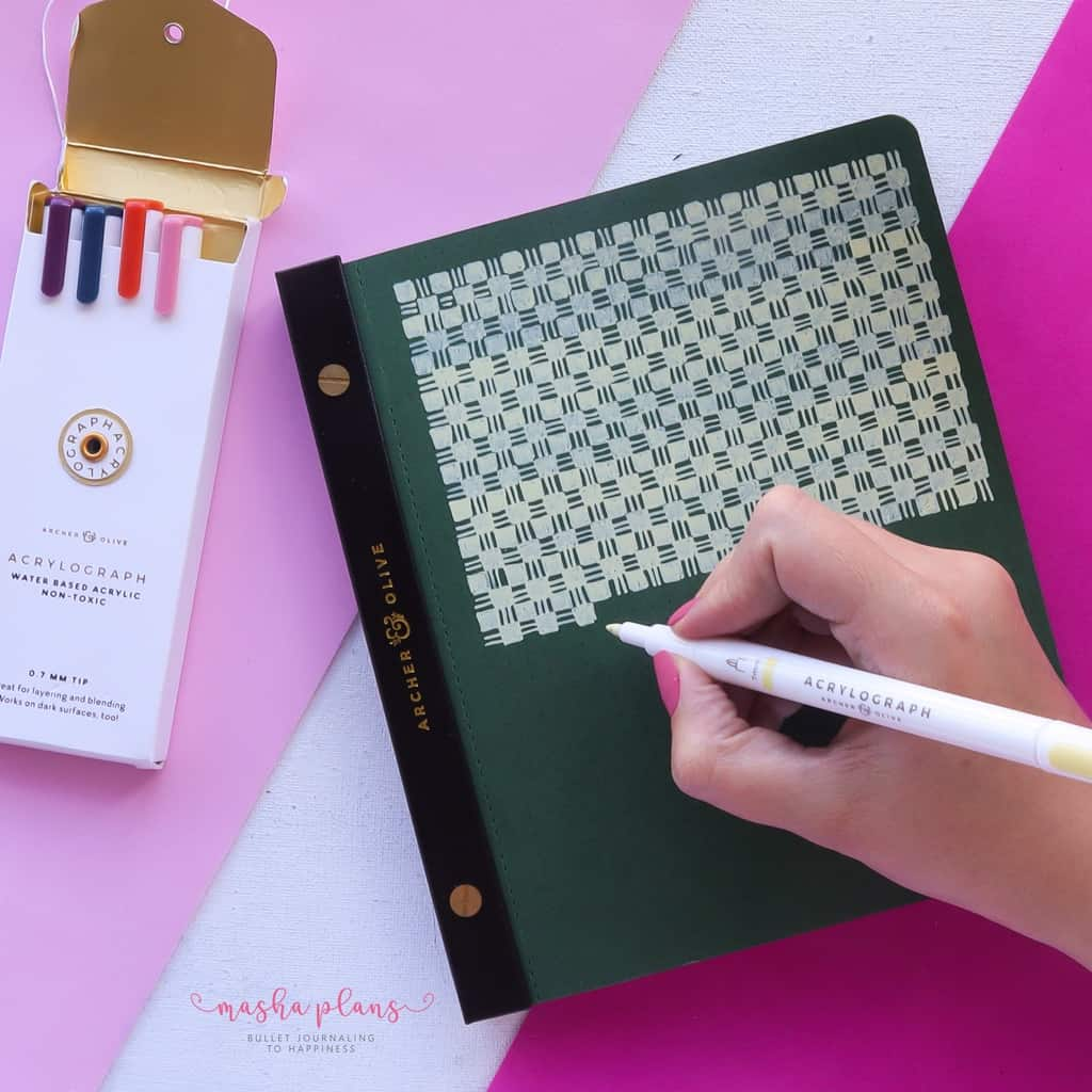 13 Simple Patterns For Your Geometric Bullet Journal Pages, Pattern 3 | Masha Plans