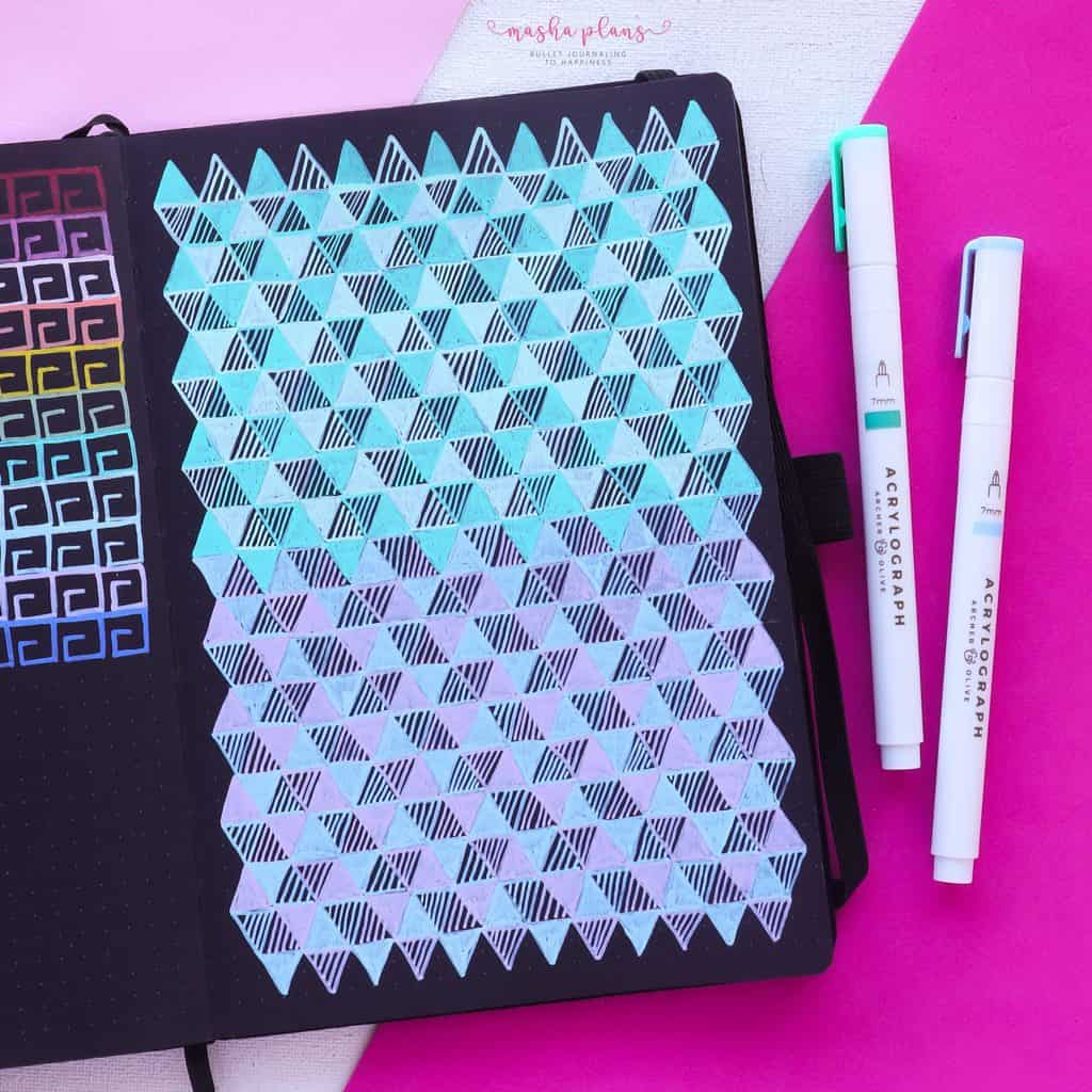 13 Simple Patterns For Your Geometric Bullet Journal Pages, Pattern 9 | Masha Plans
