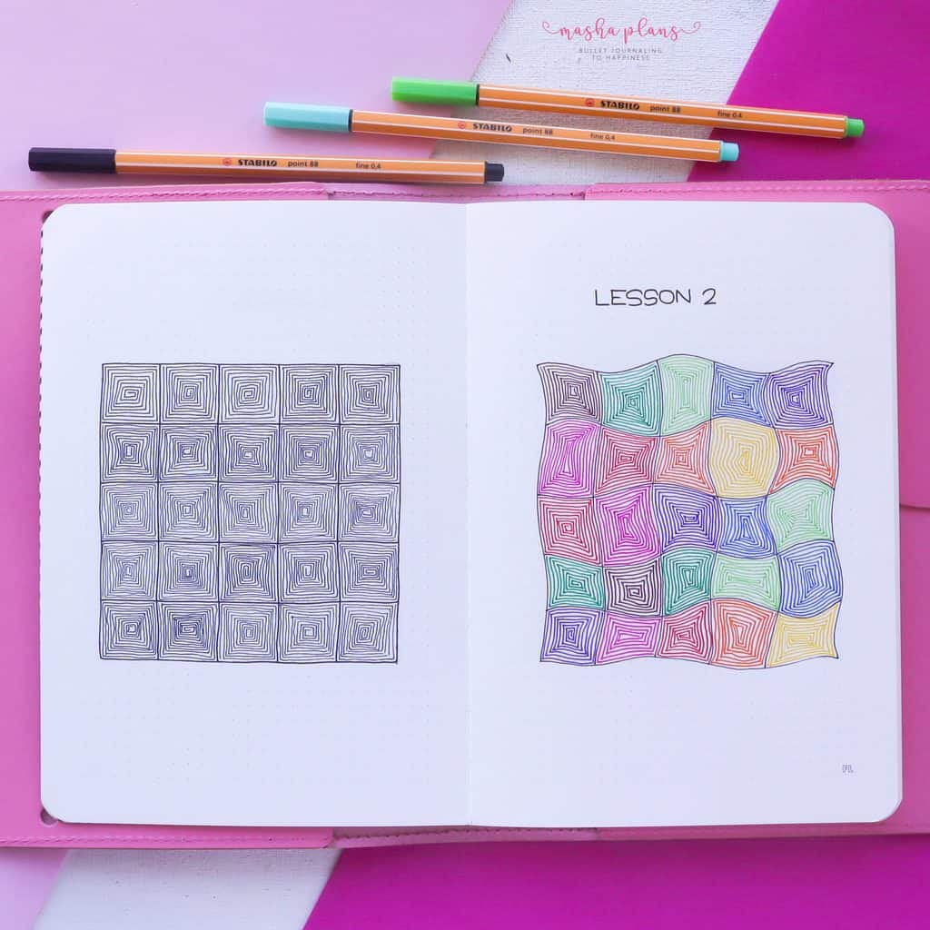 13 Simple Patterns For Your Geometric Bullet Journal Pages, Pattern 11 | Masha Plans