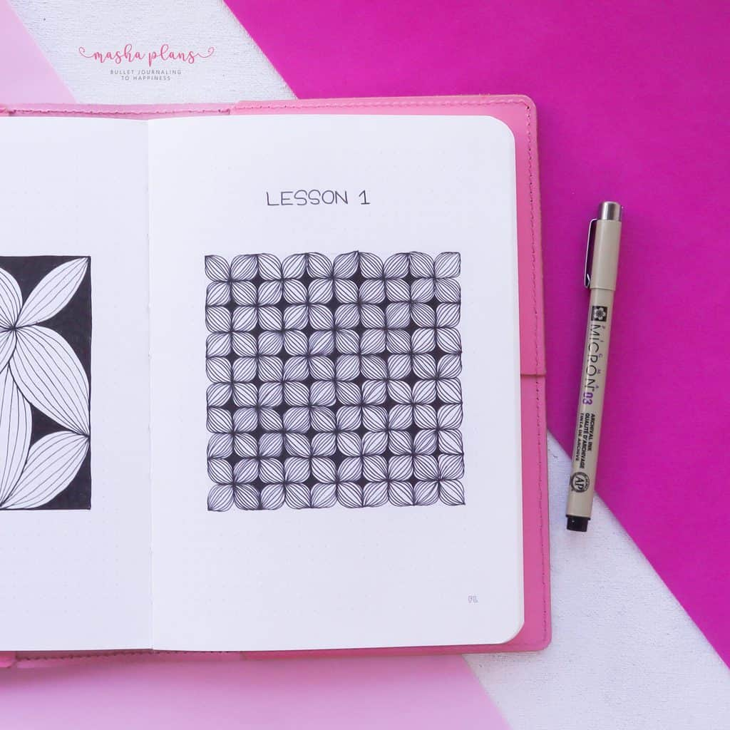 13 Simple Patterns For Your Geometric Bullet Journal Pages, Pattern 10 | Masha Plans