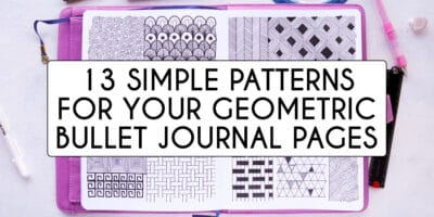 13 Simple Patterns For Your Geometric Bullet Journal Pages | Masha Plans