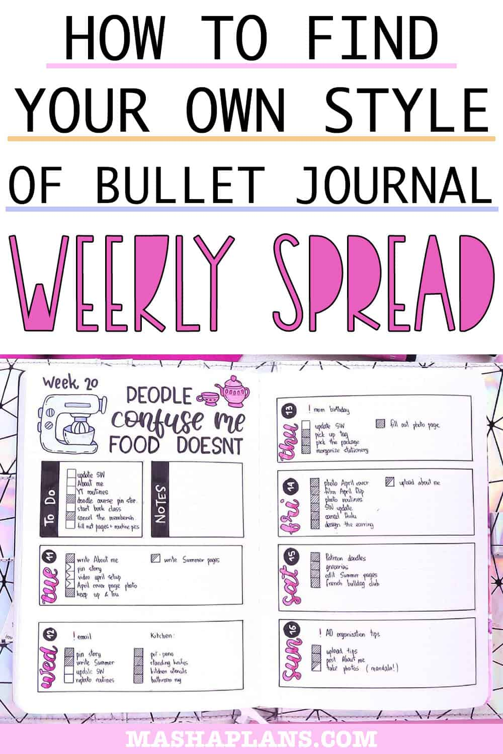 Finding Your Style Of Bullet Journal Weekly Spread   Masha Plans